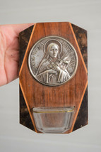 ⭐Vintage French religious wall decoration,holy water font,Saint Therese⭐ - $35.00