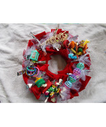 "Colorful Bird Toy Wreath Handmade Approx. 14"" F... - $44.55"