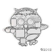"Color Your Own ""Owl About Me"" Posters - $11.49"