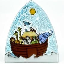 Fused Art Glass Noah's Ark Christian Religious Night Light Handmade in Ecuador image 2