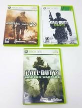 Lot of 3 Call of Duty: Modern Warfare Xbox Games COD MW 2 MW 3 MW 4 - $20.90