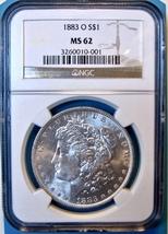 1883-O NGC Morgan Silver Dollar. MS62. MG4. - $57.00
