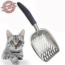 Large Cat Litter Box Scoop Scooper Kitty Sifter Deep Cat Metal Shovel He... - $11.99