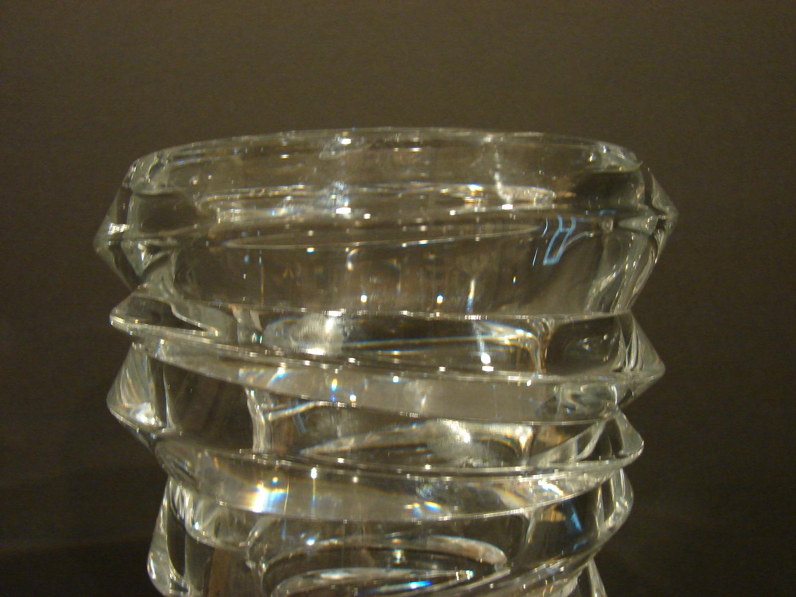 Modern Braginsky Crystal Slice Vase by Nachtmann  image 4