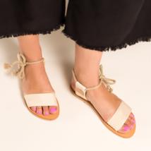 CHARLOTTE STONE Bridget Canvas Sandals 41 9.5 - 10 New $200  Anthropologie - $43.35
