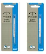 2 x Parker Quink Flow Ball Point Pen Refills BallPen Blue Medium New Sealed - $4.99