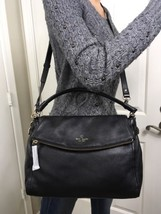 NEARLY NEW W/Tags KATE SPADE Cobble Hill Little MINKA Black Leather Satc... - $296.01