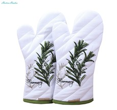 Oven Mitts, Unique Herb Garden Design, Oven Mitts Heat Resistant, Made o... - $19.48