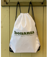 Bonanza Drawstring Backpack, White - $5.00