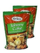 2 Pack Grace Johnny Cake Fried Dumplings Mix Caribbean Homemade 9.5 Oz - $16.82