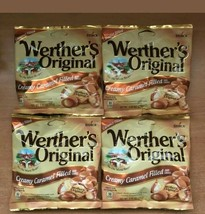 Werther's Original Creamy Caramel Filled 2.65oz Bags Werthers Candies ~ Lot of 4 - $19.79