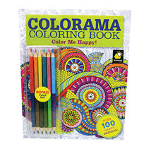 Colorama Color Me Happy Coloring Book with bonus pencils AS SEEN ON TV! NEW - $12.82