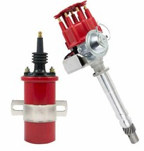 CHEVY SMALL BIG BLOCK Ready-To-Run RED Small Cap R2R Distributor W/45K Volt Coil