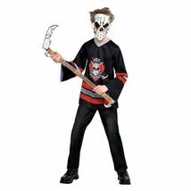 Boys Bloody Face-Off Hockey Costume NEW Halloween Ice Crusher - $24.99
