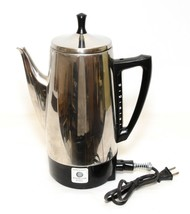 Vintage Charlescraft Coffee Percolator Stainless Steel 12-Cup Model AP-12 - $38.61