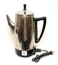 Vintage Charlescraft Coffee Percolator Stainless Steel 12-Cup Model AP-12 - $38.61