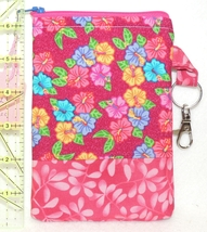Clip-On Cell Phone Case - Medium - Multi-Colored Flowers on Red / Pink  ... - $4.00