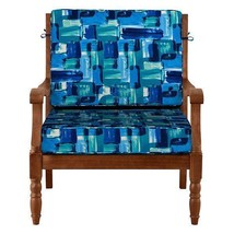 """26"""" x 26"""" Outdoor Deep Seat Cushion Set For Chair Sofa Blue Mosaic - $110.05"""