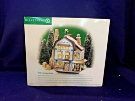 "Dept. 56 New England Village Series ""Platt's Candles & Wax"" #56.56614  NIB - $32.73"