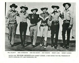 Sunset Carson Western Movie Stars PBS Print Ad Roy Rogers Rocky Lane Cow... - $24.74