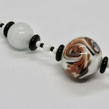 Necklace Antica Murrina Venezia with Murano Glass Black White Orange Coa89a15 image 5