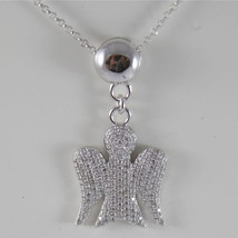 925 SILVER NECKLACE WITH ANGEL PENDANT GIA100 MADE IN ITALY BY ROBERTO GIANNOTTI image 1