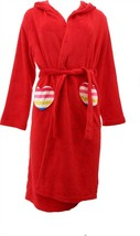 Lands' End G FLEECE SOLID ROBE Country Rose 14 NEW 475280 - $22.75