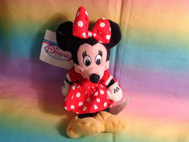 "Disney Store Minnie Mouse Mini Bean Bag Plush 8"" - Damaged Tag - $5.20"