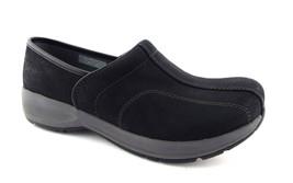 New DANSKO Size 7 Black Nubuck Leather Clogs Shoes 37 - $84.00