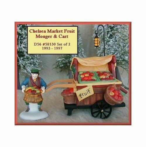 Primary image for Dept 56 Dickens Snow Village  Chelsea Market Fish Monger Set of 2 58130