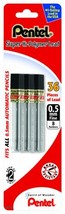 Pentel Super Hi-Polymer Lead Refill 0.5mm Fine, B, 36 Pieces of Lead C50... - $8.55