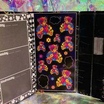 GREAT Vintage Lisa Frank Blossom Bear Tri Fold Agenda COMPLETE STICKERS image 4