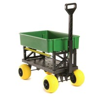 Garden Beautification Tool All Terrain Four Rubber Wheels Wheelbarrow in... - $188.99