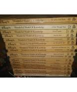 Disney's Wonderful World of Knowledge Lot 17 Hardcover Vintage 1973 Home... - $74.24