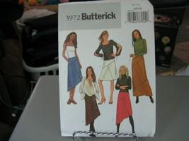 Butterick 3972 Misses Skirt Pattern - Size 6/8/10 Waist 30 1/2 to 32 1/2 - $6.92