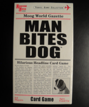 University Games 2002 Man Bites Dog Headline Card Game Travel Collection... - $7.99