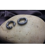 Oval 20mm Clasp Lock Finding Oxidized.925 Sterling Silver with Pave Diam... - $125.00
