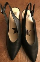 Gianni Bini Black Wanna Be 11M Open Heel with Buckled Strap Pointed Toe Mules - $69.95