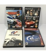PS2 LOT of 4 RACING GAMES: Gran Turismo 3 & 4, Midnight Club II, Burnout 2 - $23.70