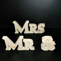 Mr & Mrs Stand Alone Wood Letters Unfinished Style 1 Stk No. M-1-.75-4-L... - $5.00