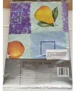 "FLANNEL BACK TABLECLOTH 70"" Round (4-6 ppl) FRUITS, APPLES & PEARS, ELEG... - $15.83"