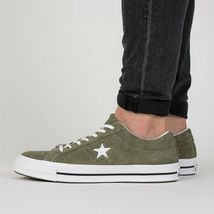 Converse Mens One Star Ox Suede 161576C Field Surplus (Olive) / White Size 9 image 10
