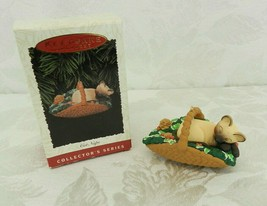 Hallmark Keepsake Christmas Ornament Cat Naps #3 1996 Siamese Basket Dil... - $14.84