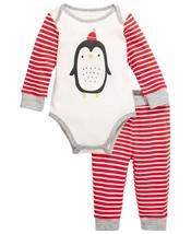 First Impressions Baby Boys 2-Pc. Cotton Penguin Bodysuit & Pants Set Ne... - $9.11