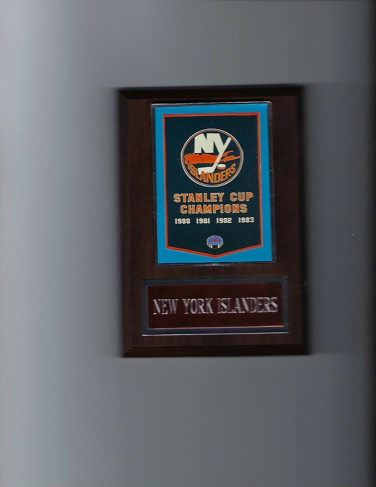 NEW YORK ISLANDERS BANNER PLAQUE NY STANLEY CUP CHAMPIONS CHAMPS HOCKEY NHL - $3.95