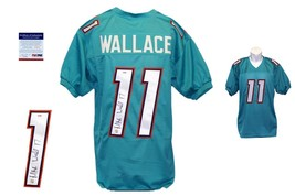 Mike Wallace SIGNED Teal Jersey - PSA/DNA - Miami Dolphins Autograph - $128.69