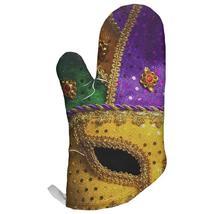 Mardi Gras Mask All Over Oven Mitt - $16.95