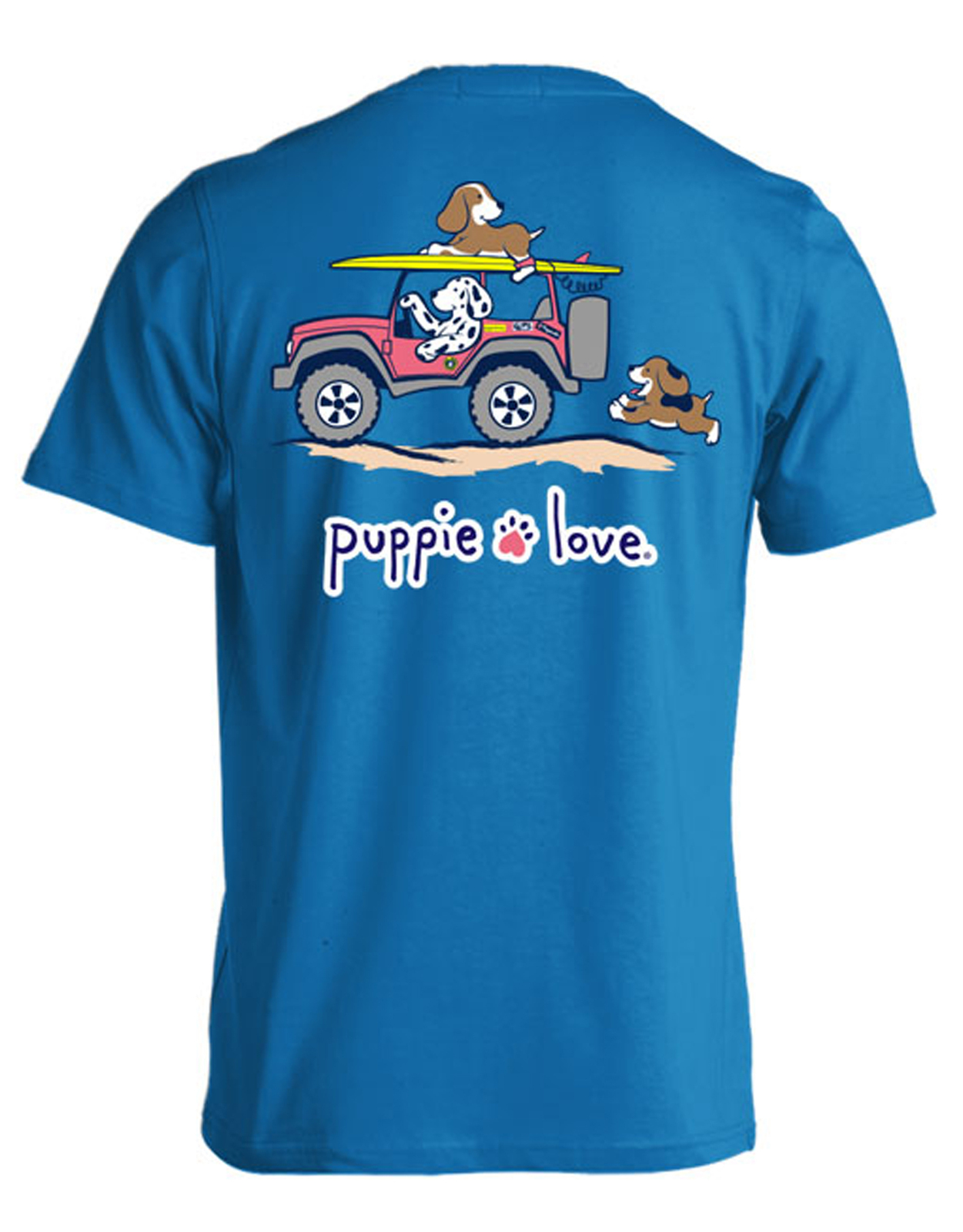 Puppie Love Rescue Dog Adult Unisex Short Sleeve Graphic T-Shirt, Dunes Pup