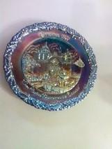 Fenton Purple Amethyst Carnival Christmas Plate  1977 - Carmel CA -#8 - $7.36