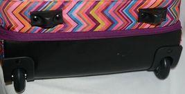 Hadaki Brand HDK879 Multi Color Chevron Plane Hopping Roller Suitcase image 4
